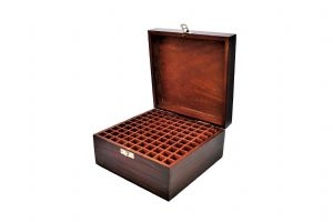 Metal Stamp 100 Compartment Wooden Storage Organiser Tool Holder Box. J1510